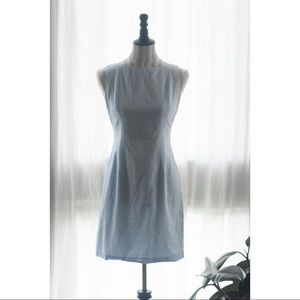"Vintage ""Moda Int'l"" Blue Gingham Picnic Dress"